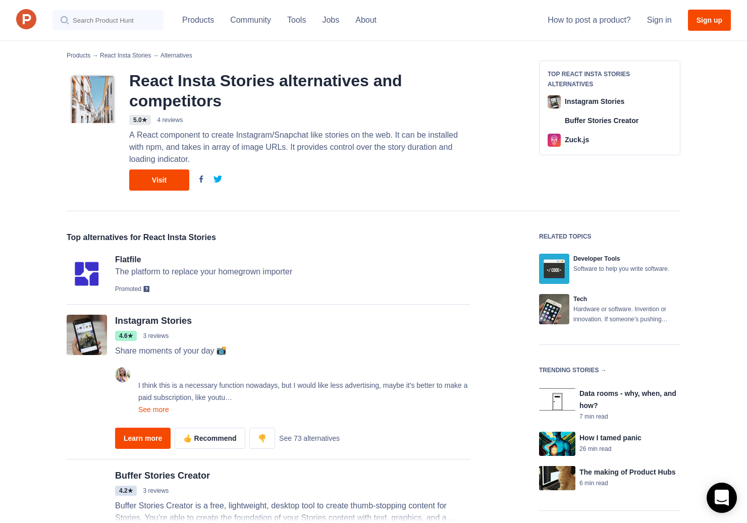 7 Alternatives to React Insta Stories | Product Hunt