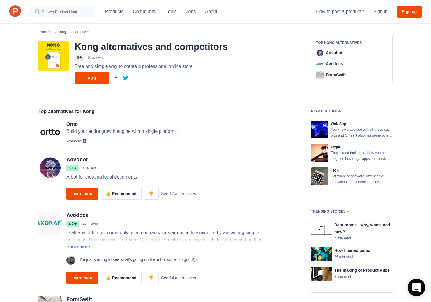 Alternatives To Kong Legal Document Builder Product Hunt - Easy legal documents