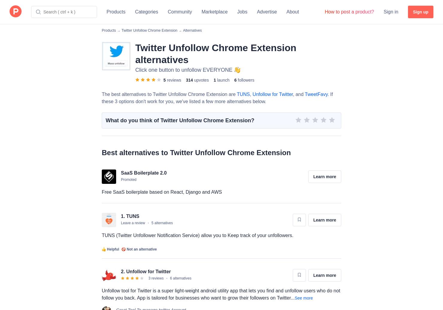 9 Alternatives to Twitter Unfollow Chrome Extension for Chrome