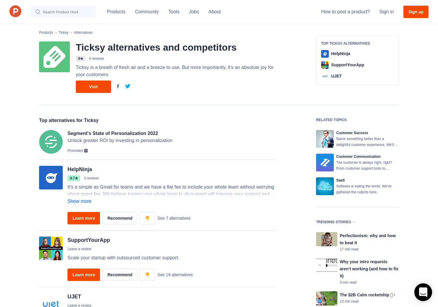 Helpscout Beacon 2.0 13 alternatives to ticksy   product hunt
