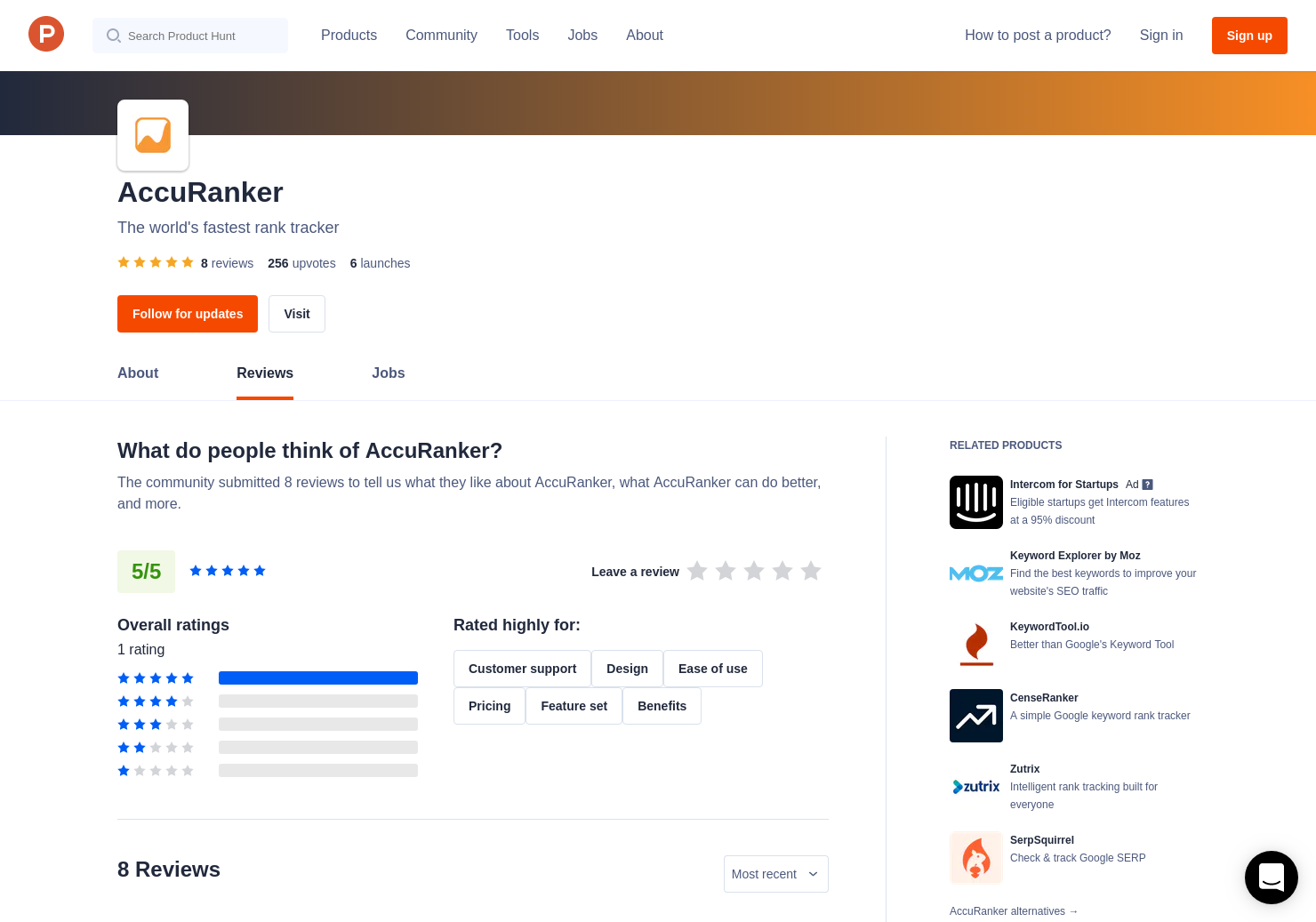 1 AccuRanker Reviews - Pros, Cons and Rating | Product Hunt