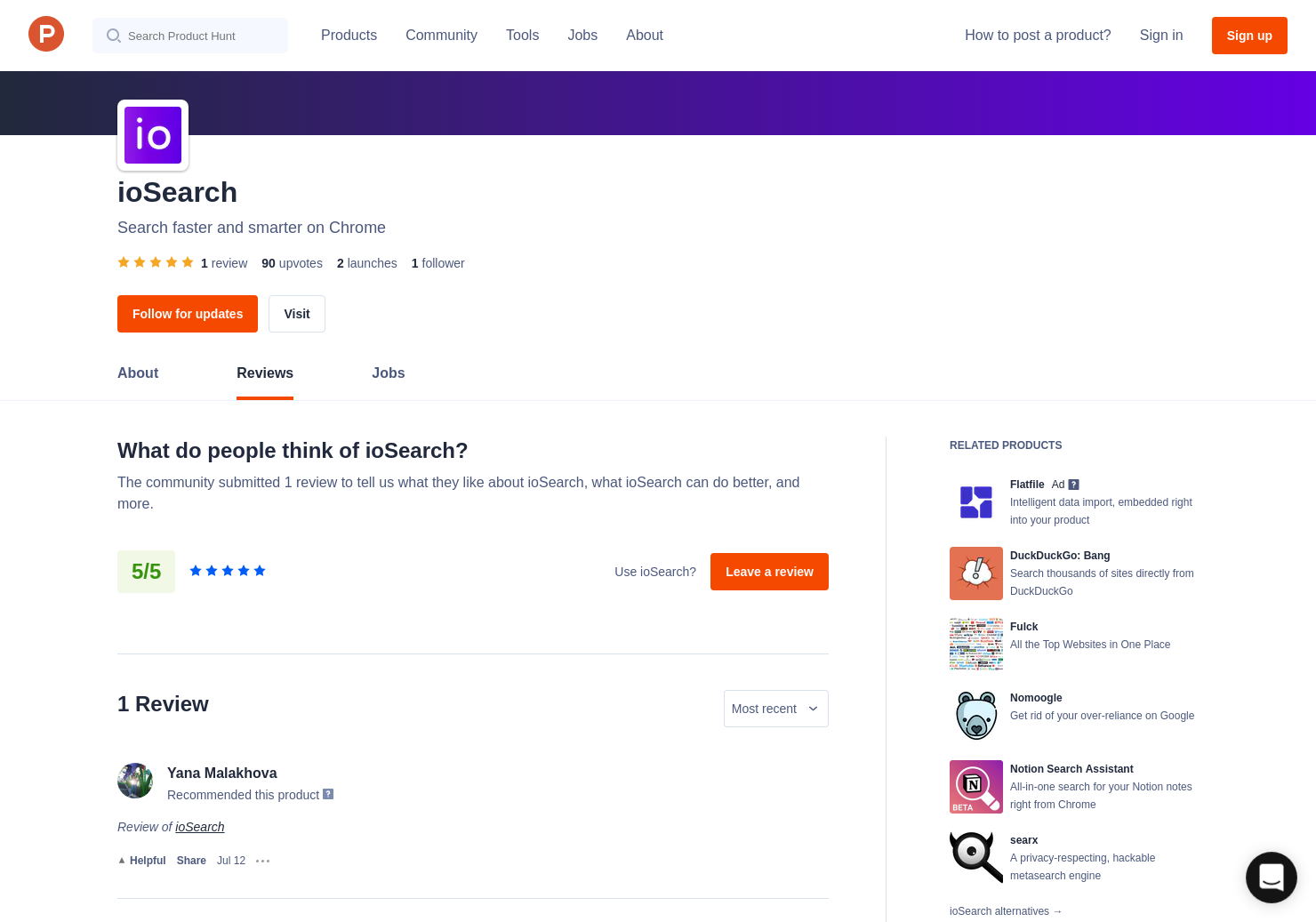 1 ioSearch Reviews - Pros, Cons and Rating | Product Hunt