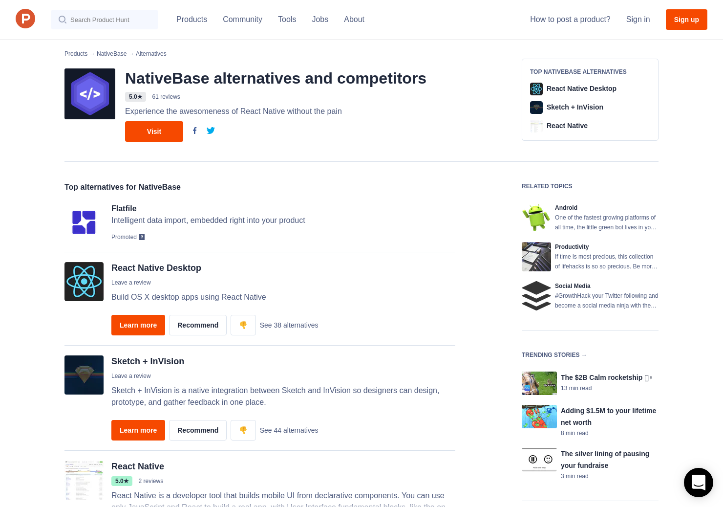 5 Alternatives to NativeBase Sketch Template | Product Hunt
