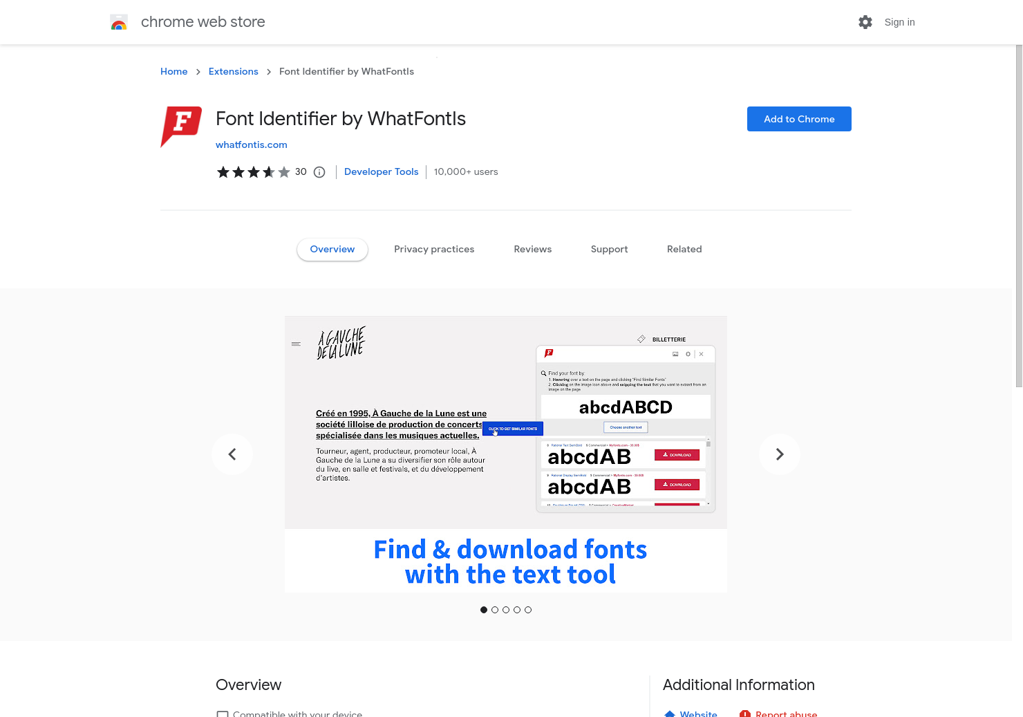 Font Identifier by WhatFontIs