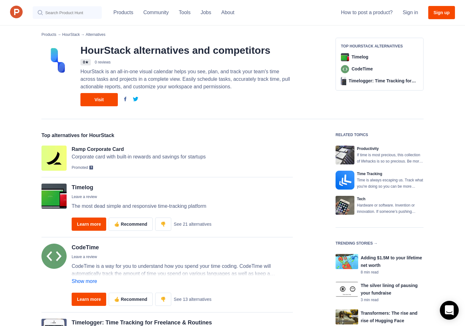 7 Alternatives to HourStack | Product Hunt