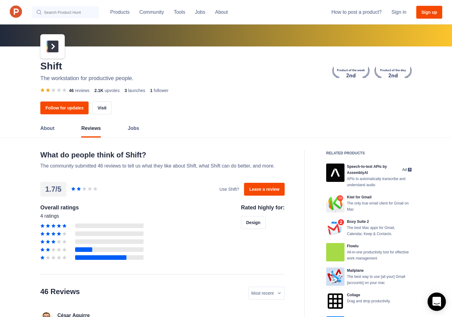 13 Shift Reviews - Pros, Cons and Rating   Product Hunt