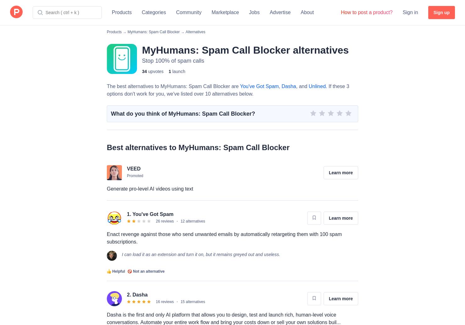 7 Alternatives to MyHumans: Premium Call Blocker for iPhone