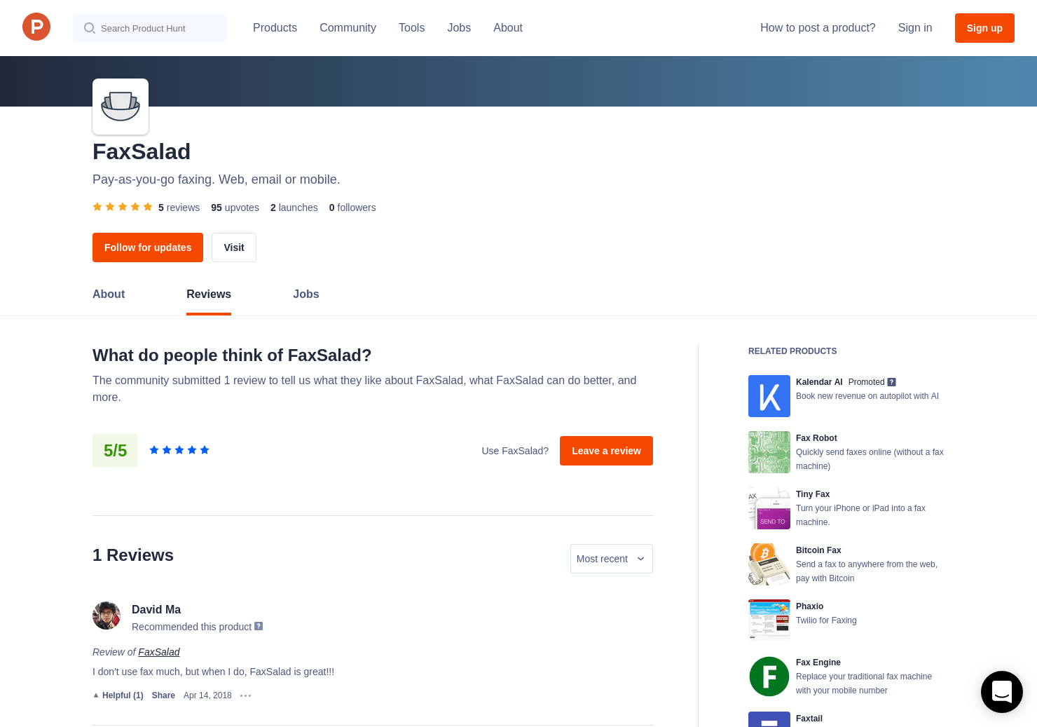 3 FaxSalad Reviews - Pros, Cons and Rating | Product Hunt