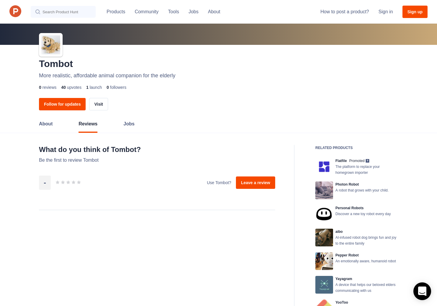 Tombot Reviews - Pros, Cons and Rating   Product Hunt