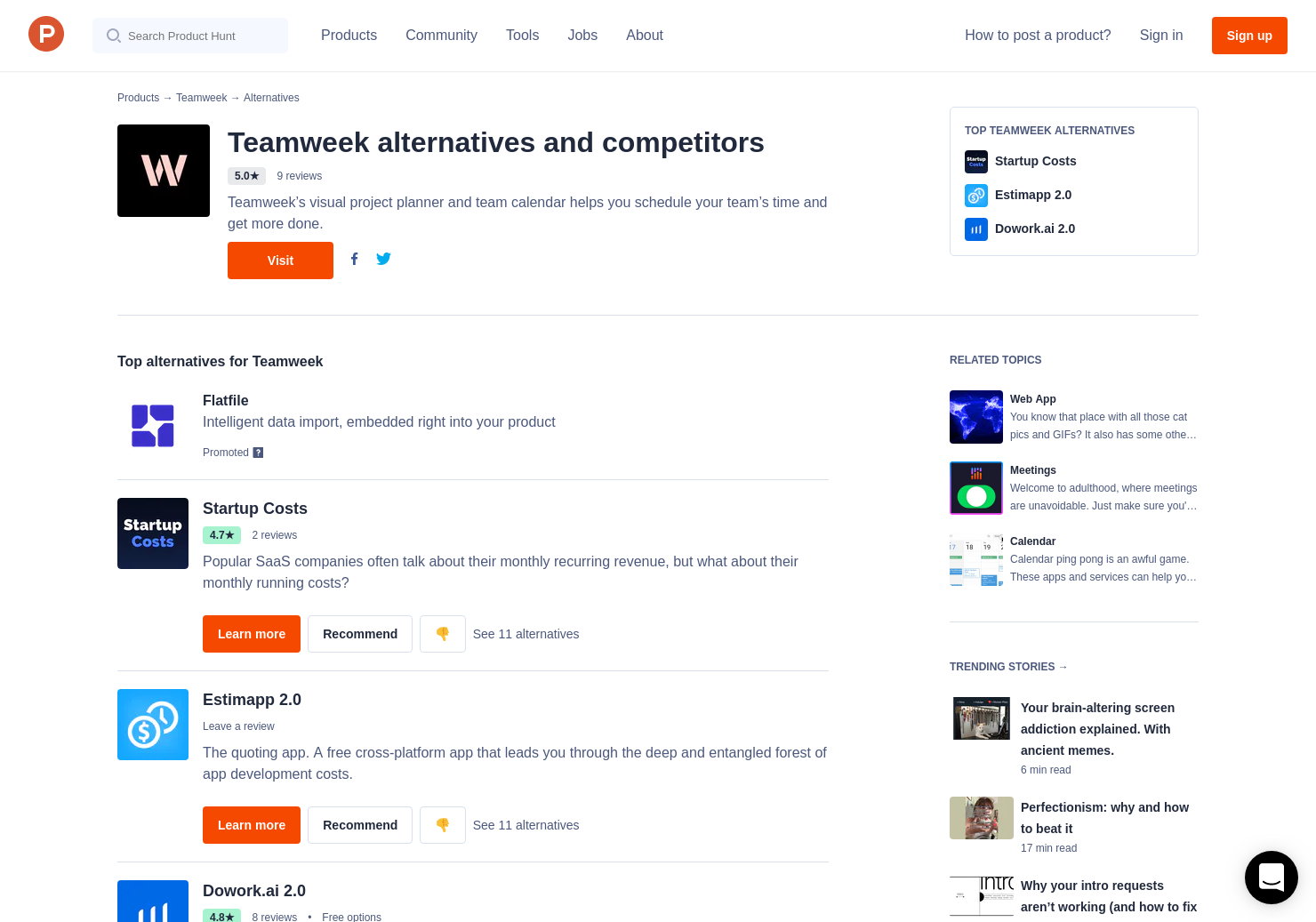 6 Alternatives to Teamweek Budget Calculator | Product Hunt