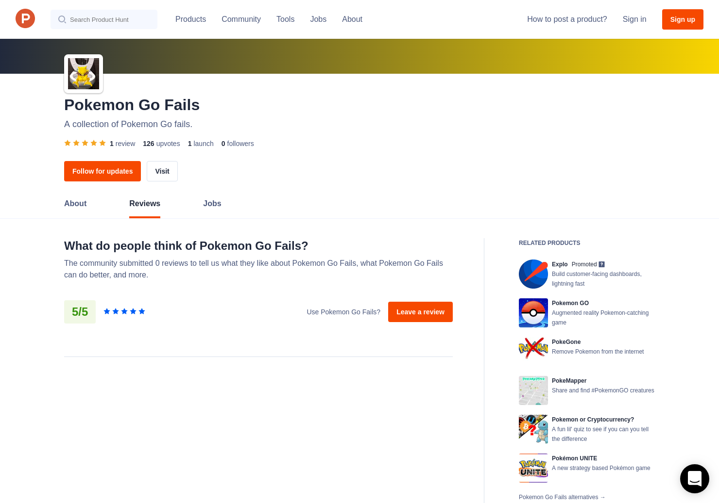 Pokemon Go Fails Reviews - Pros, Cons and Rating | Product Hunt