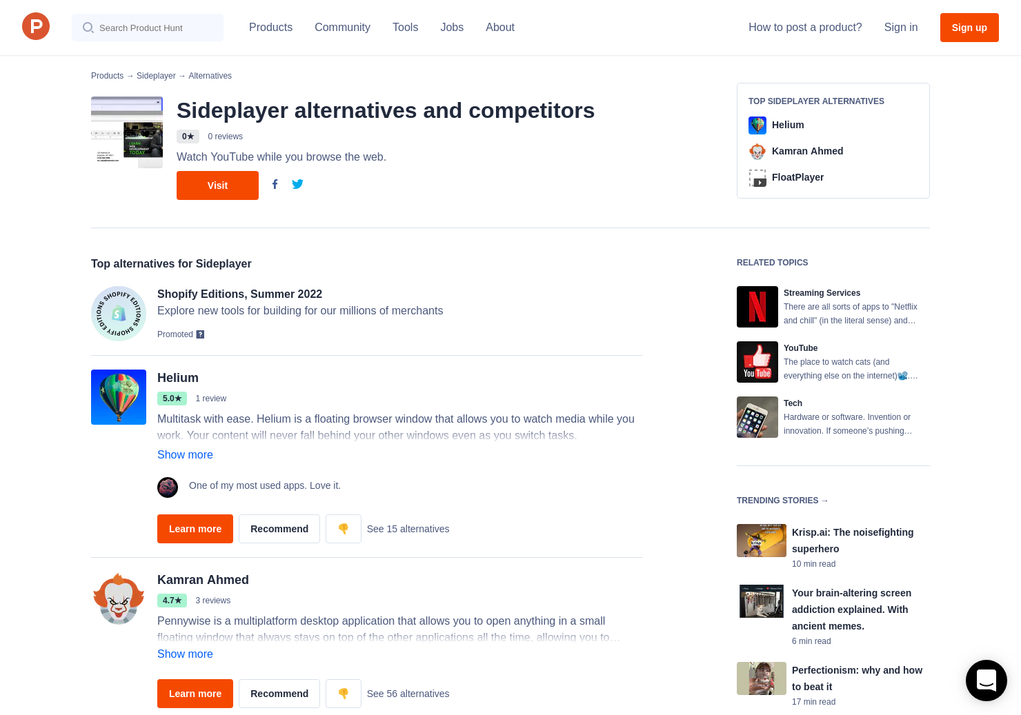 7 Alternatives to Sideplayer | Product Hunt