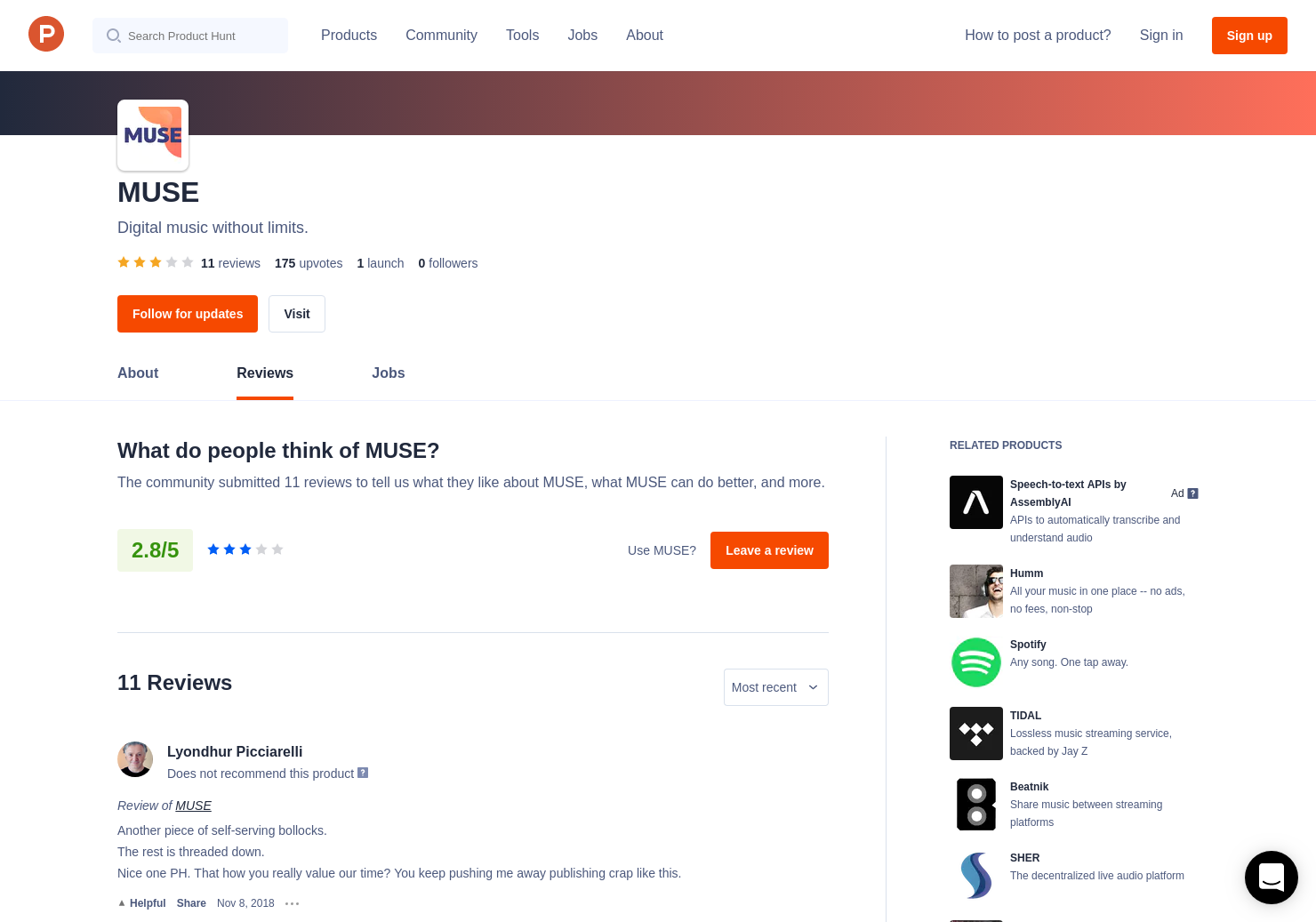 11 MUSE Reviews - Pros, Cons and Rating | Product Hunt
