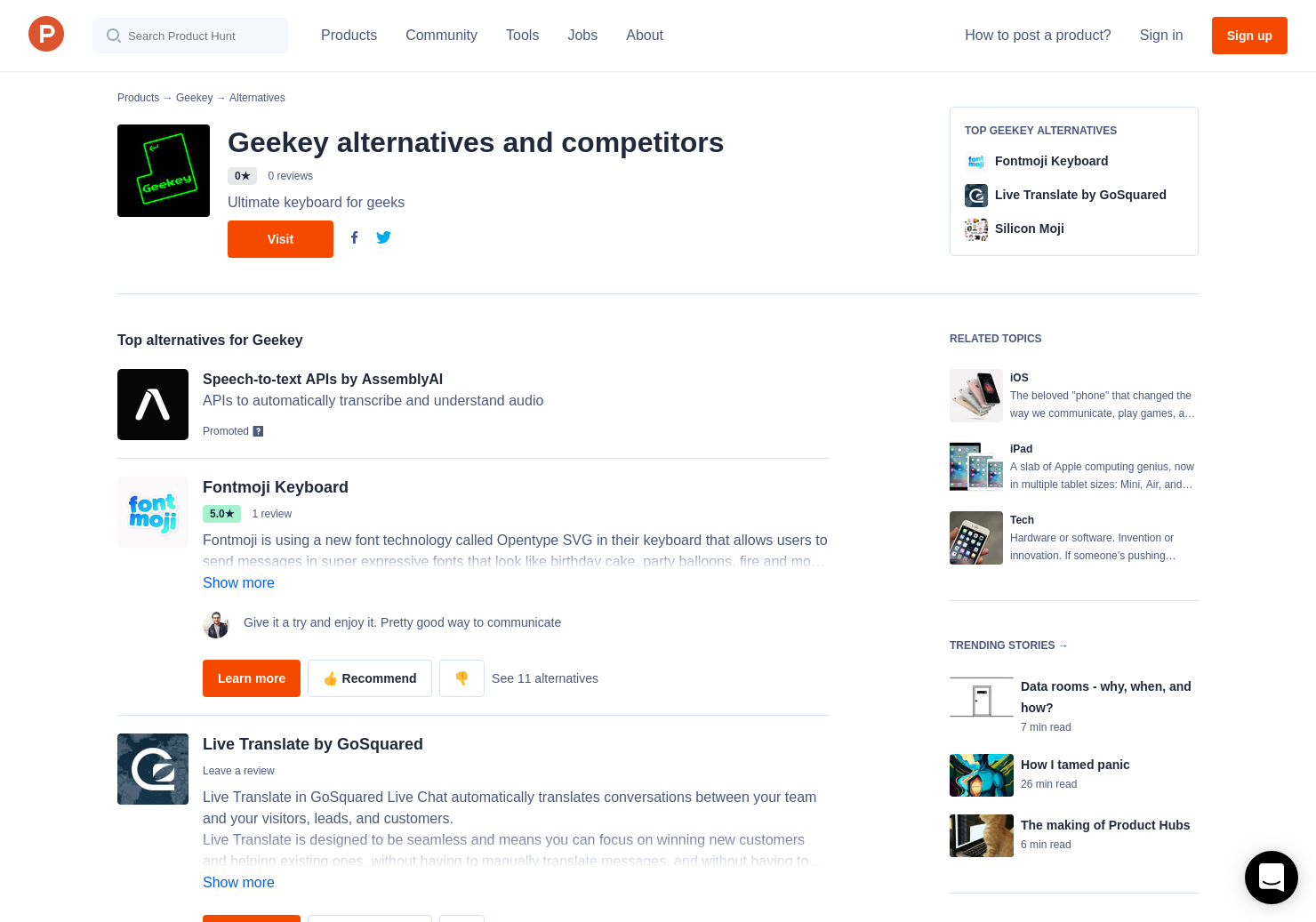 5 Alternatives to Geekey for iPhone, iPad | Product Hunt