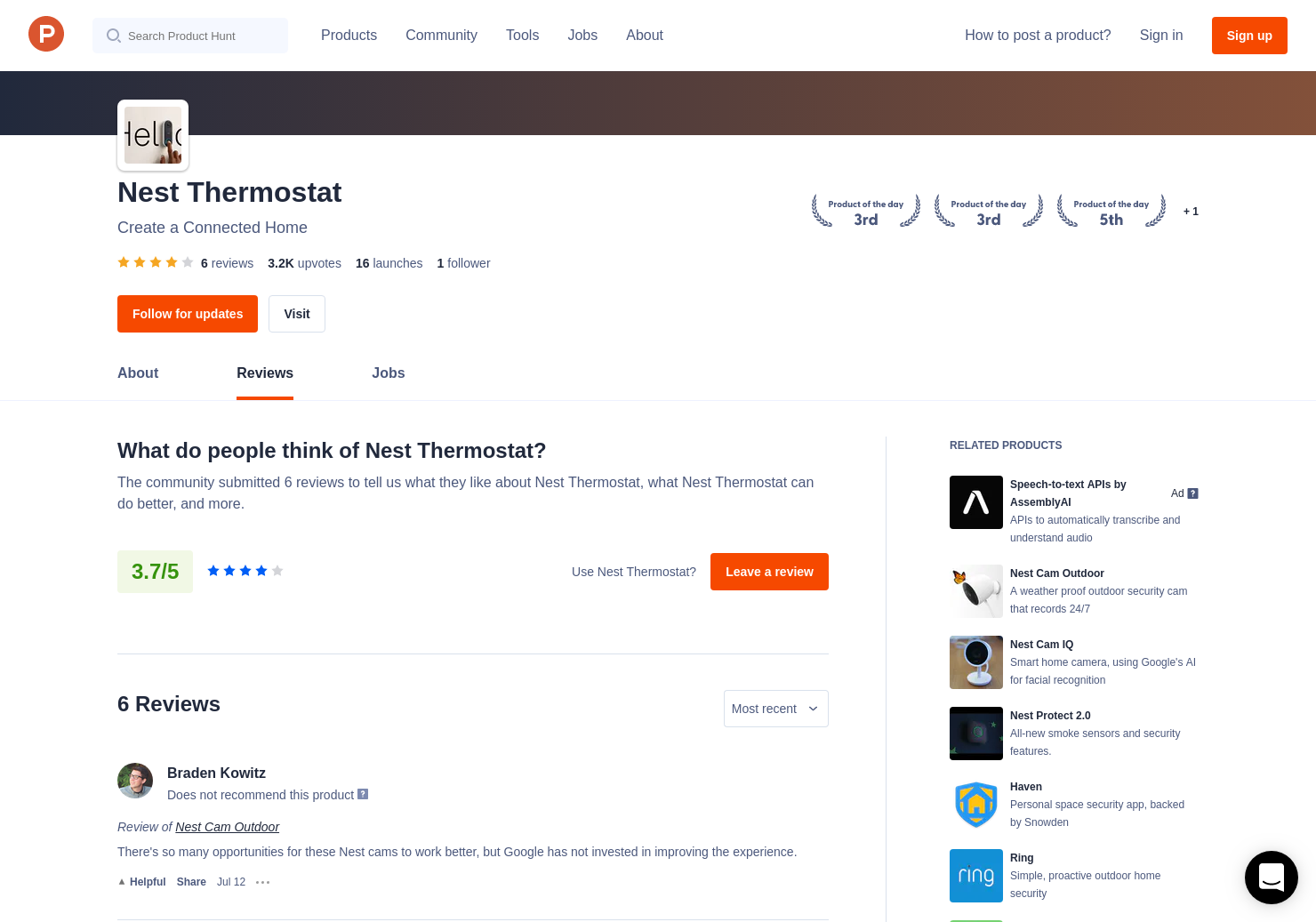 Nest Hello Reviews On Product Hunt