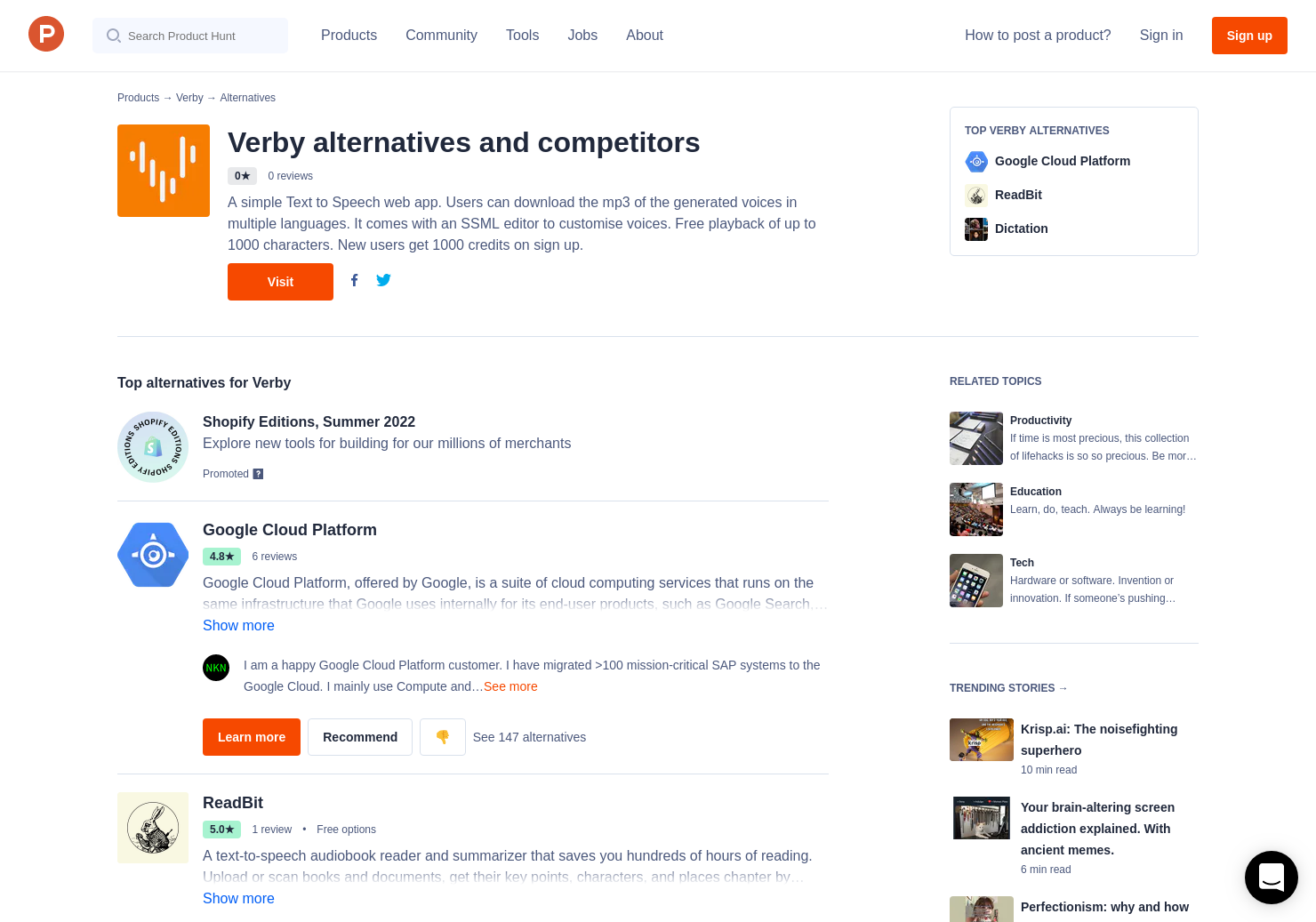 6 Alternatives to Verby | Product Hunt