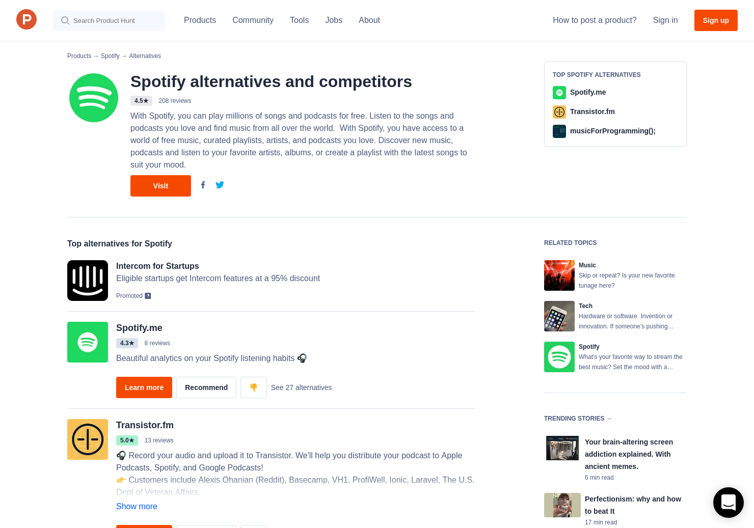 4 Alternatives to Serendipity by Spotify | Product Hunt