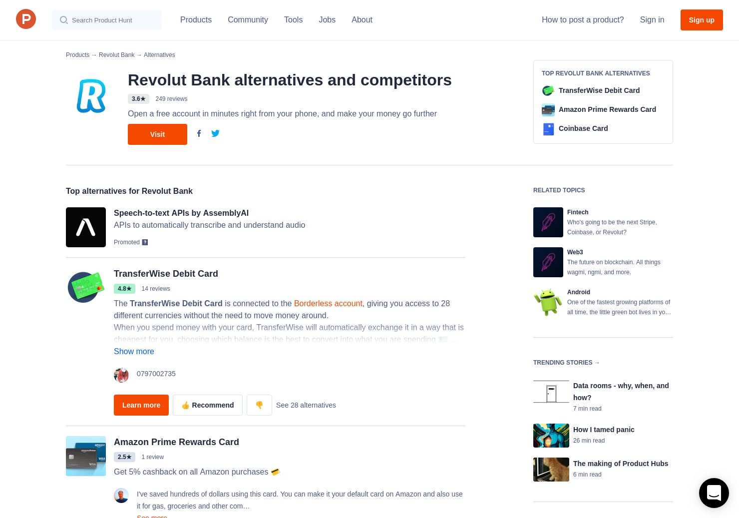 26 alternatives to revolut cryptocurrency product hunt ccuart Gallery
