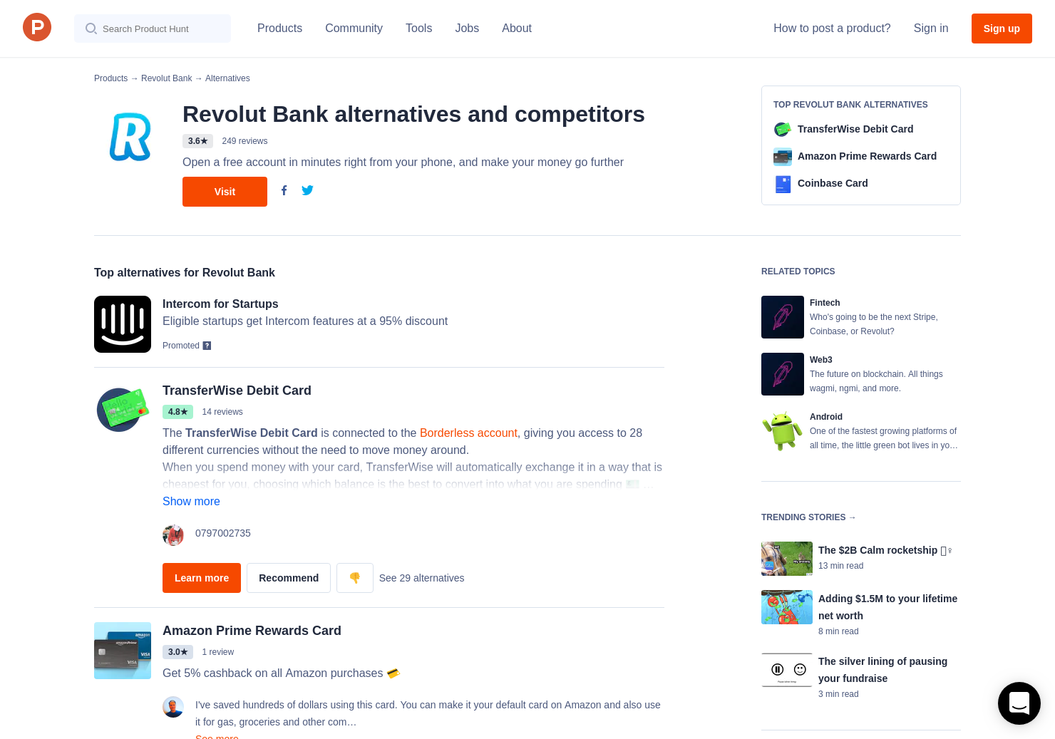 30 alternatives to revolut cryptocurrency product hunt ccuart Choice Image