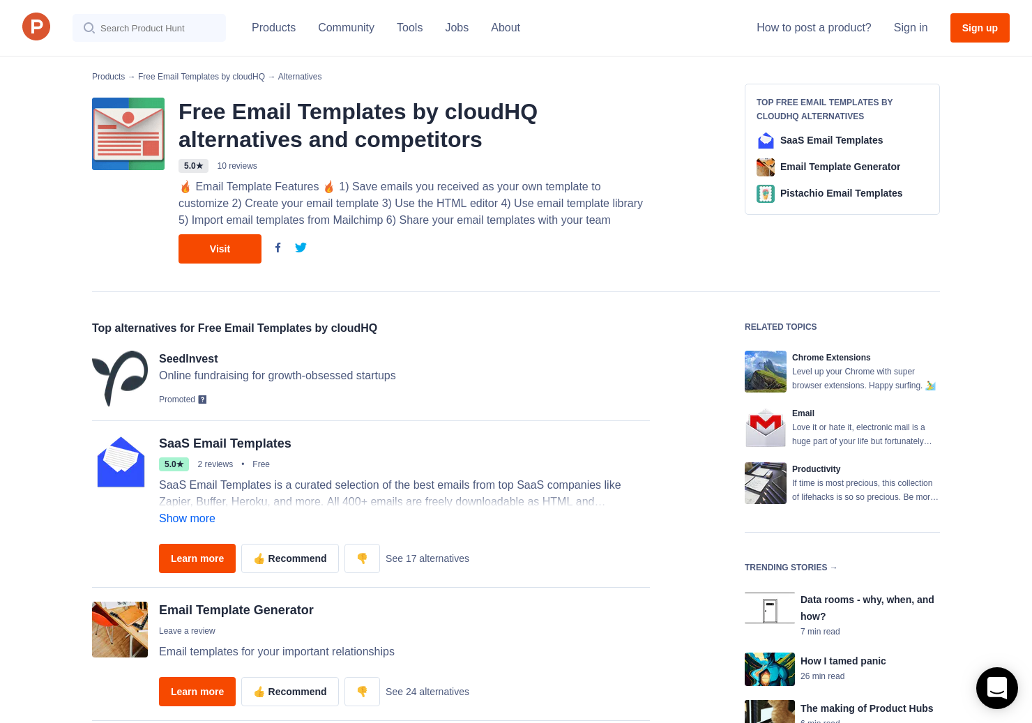 7 Alternatives to Gmail Email Templates by cloudHQ for