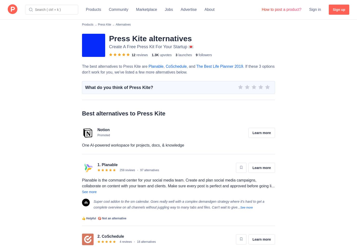 6 Alternatives to 2019 Marketing Calendar | Product Hunt