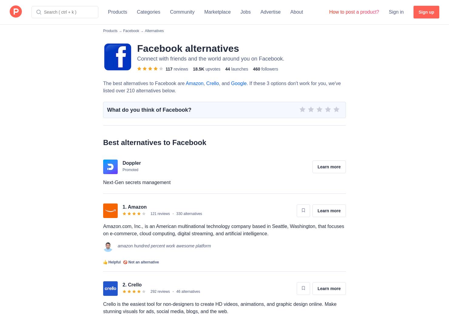 alternativen facebook