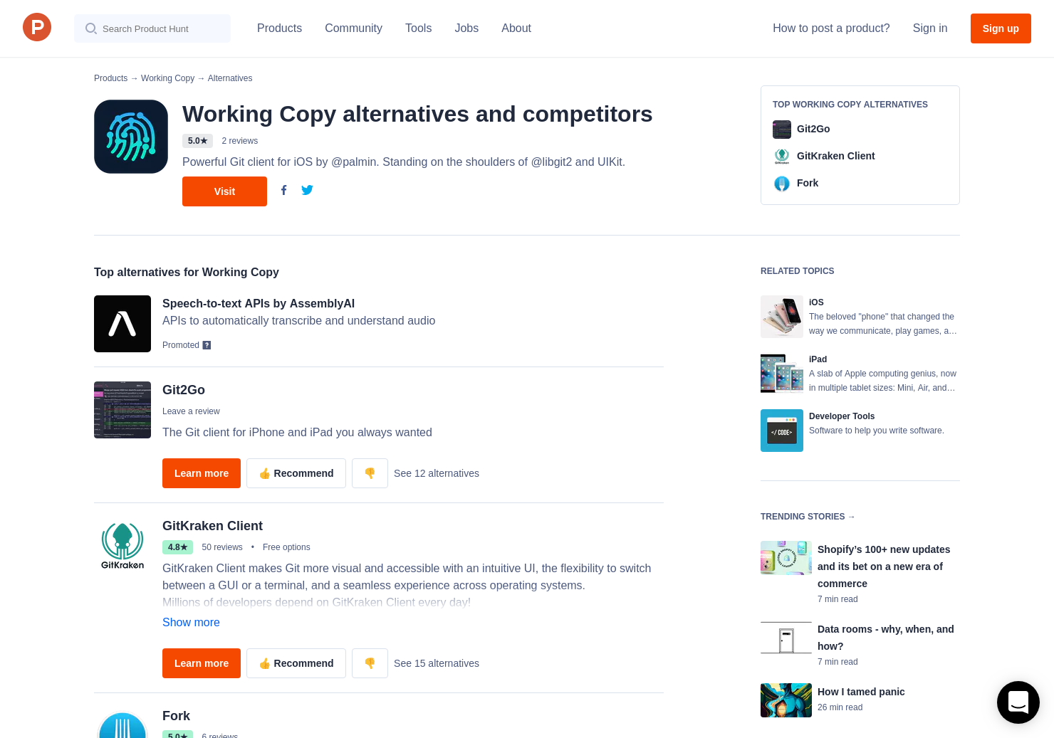 8 Alternatives to Working Copy 3 for iPhone, iPad | Product Hunt