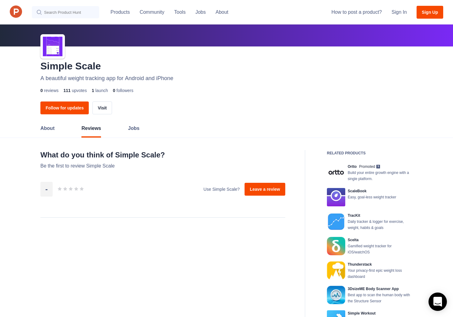 Simple Scale Reviews - Pros, Cons and Rating | Product Hunt