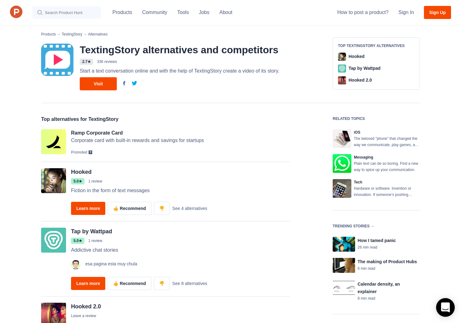 5 Alternatives to TextingStory for iPhone | Product Hunt