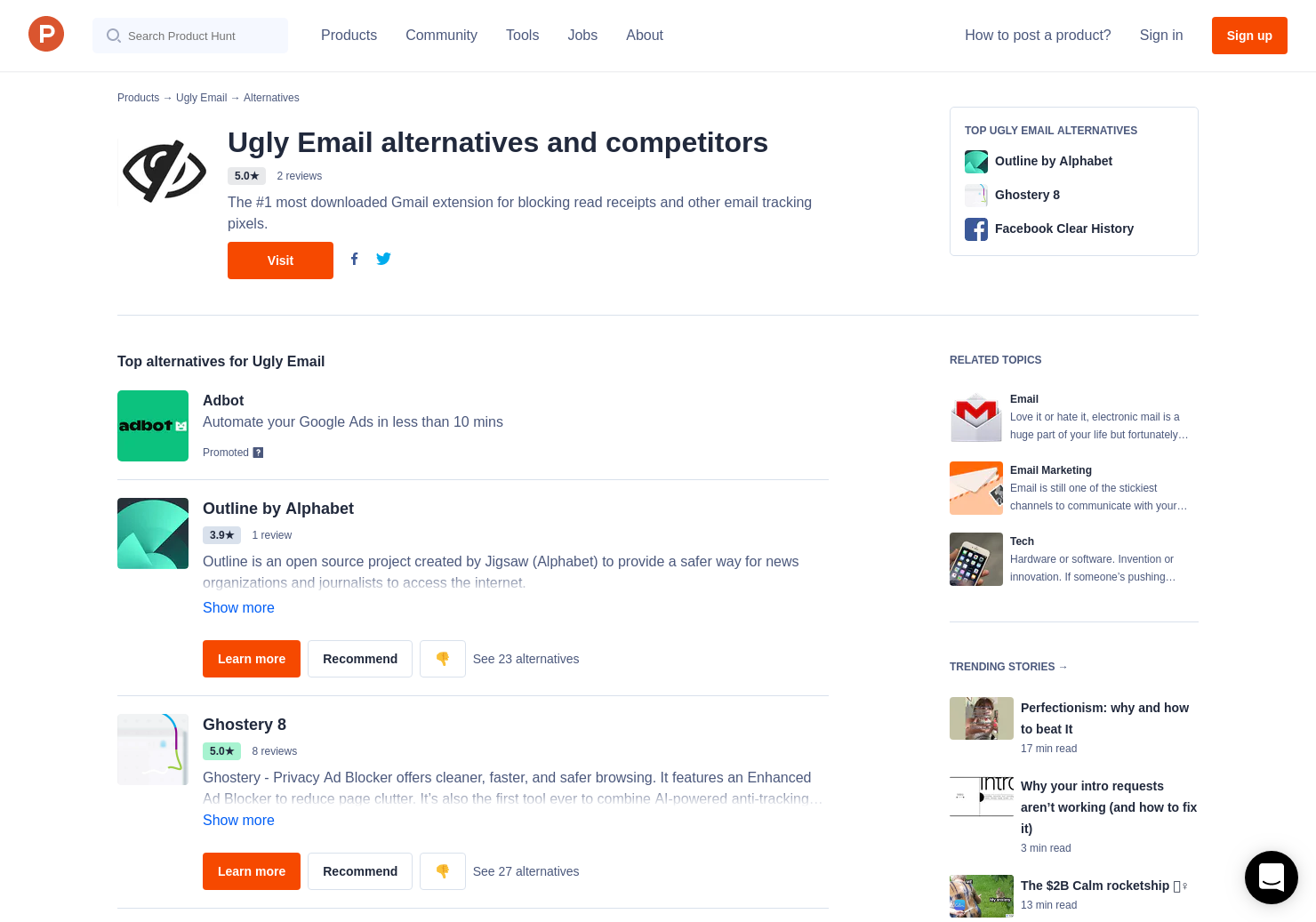 12 Alternatives to Ugly Email for FireFox | Product Hunt