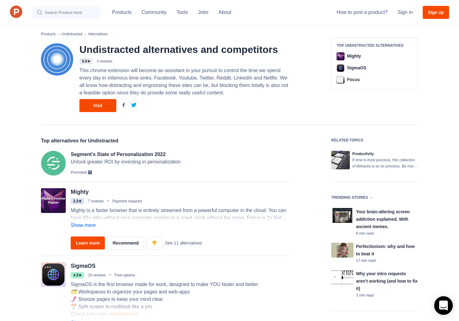 13 Alternatives to UnDistracted | Product Hunt