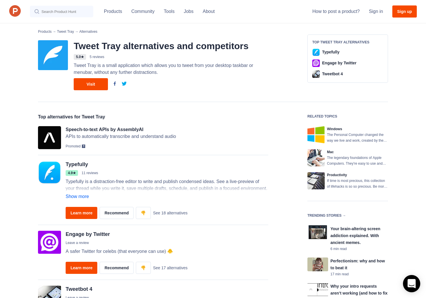 13 Alternatives to Tweet Tray for Windows, Mac | Product Hunt
