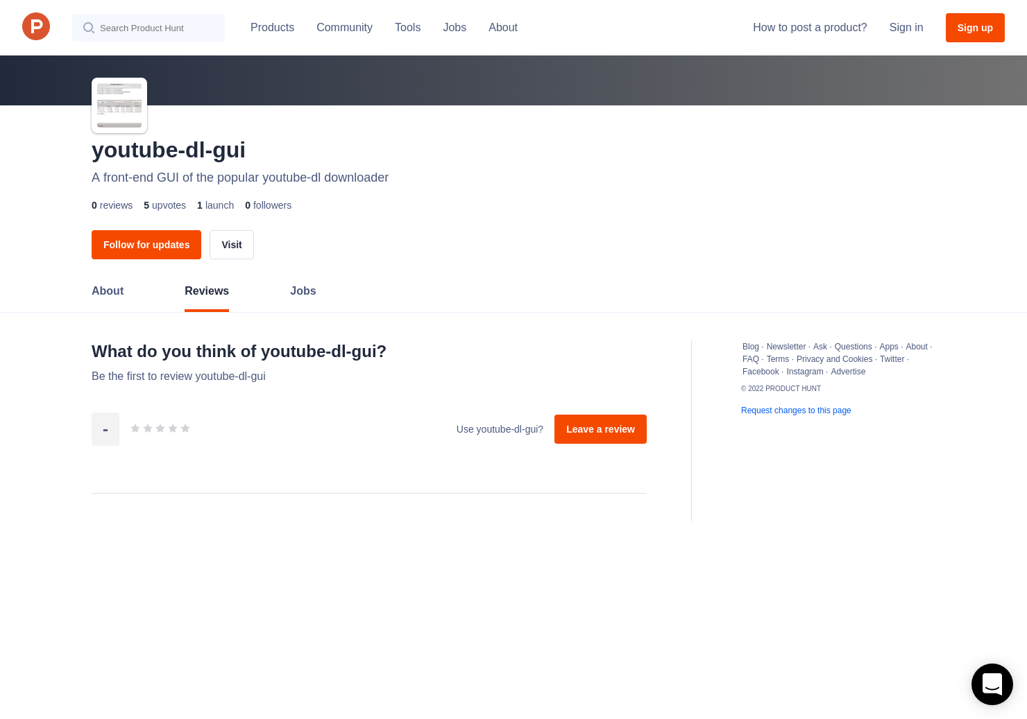 youtube-dl-gui Reviews - Pros, Cons and Rating | Product Hunt