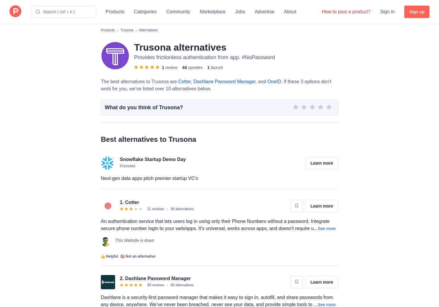 11 Alternatives to Trusona | Product Hunt