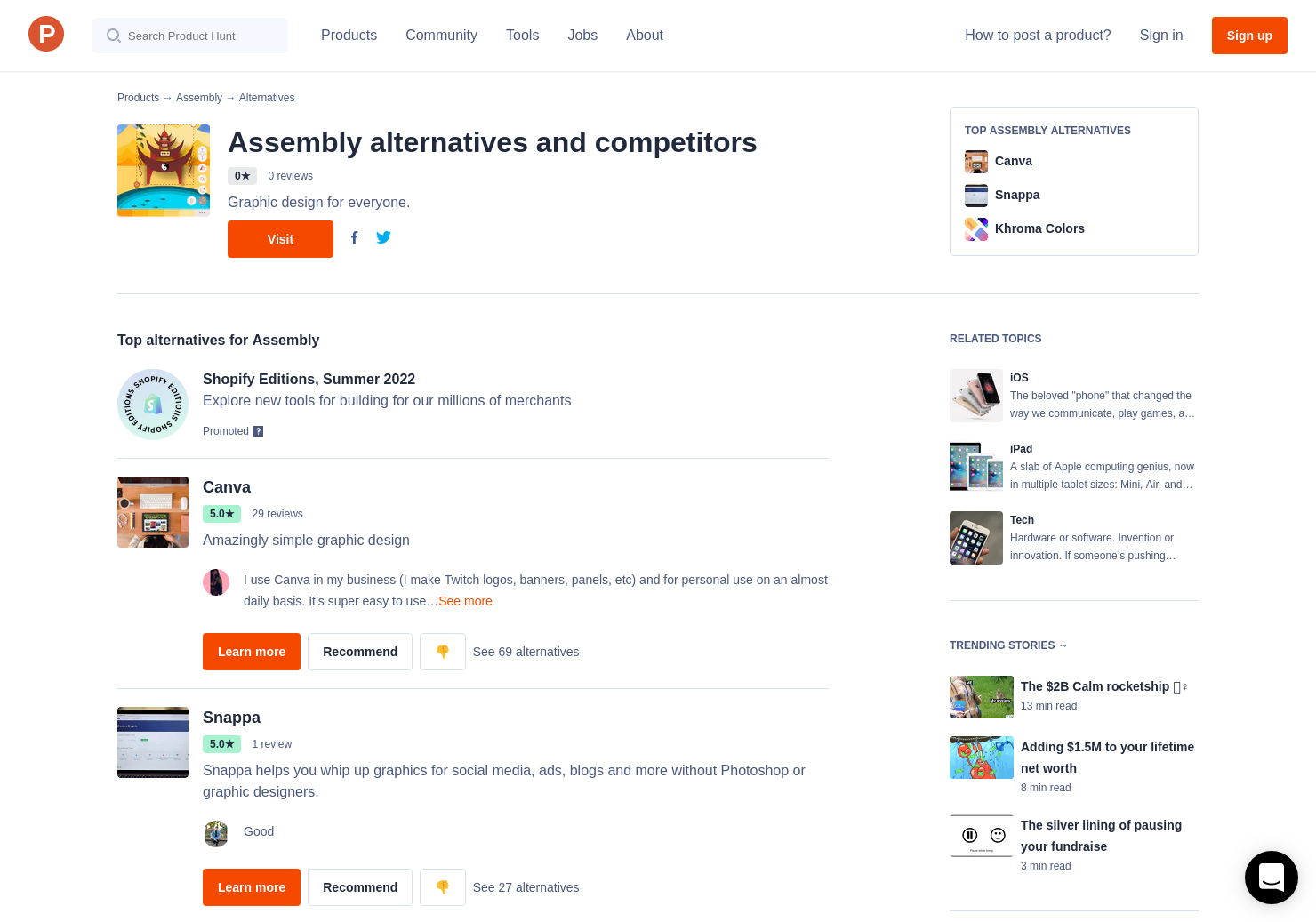 9 Alternatives to Assembly for iPhone, iPad | Product Hunt