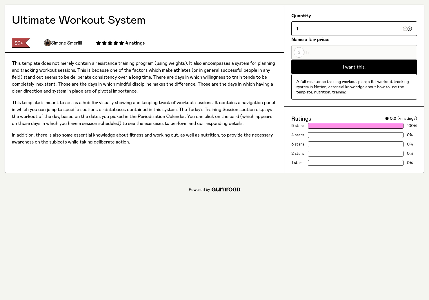 Ultimate Notion Workout System