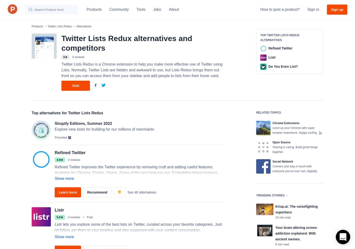 10 Alternatives to Twitter Lists Redux for Chrome Extensions