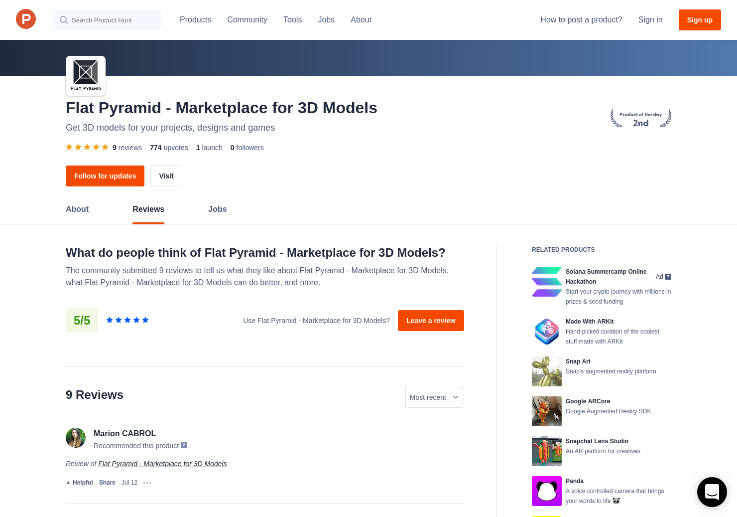 7 Flat Pyramid - Marketplace for 3D Models Reviews - Pros