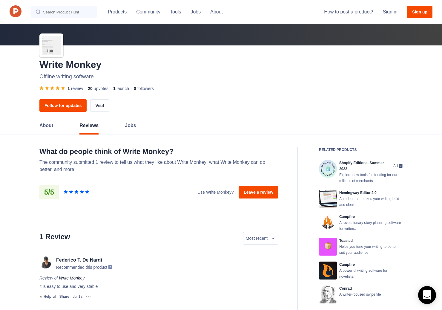 Write Monkey Reviews - Pros, Cons and Rating | Product Hunt