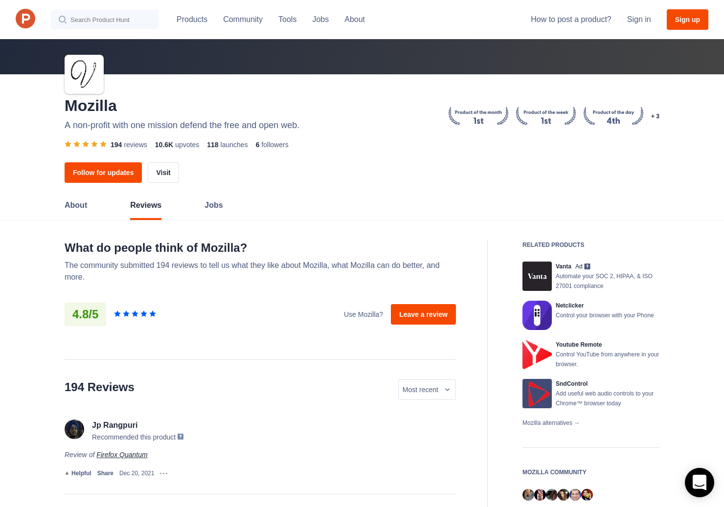 firefox browser reviews