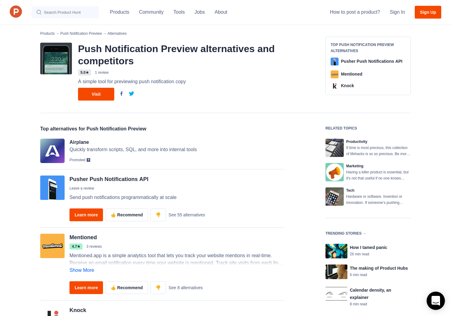 13 Alternatives to Push Notification Preview | Product Hunt