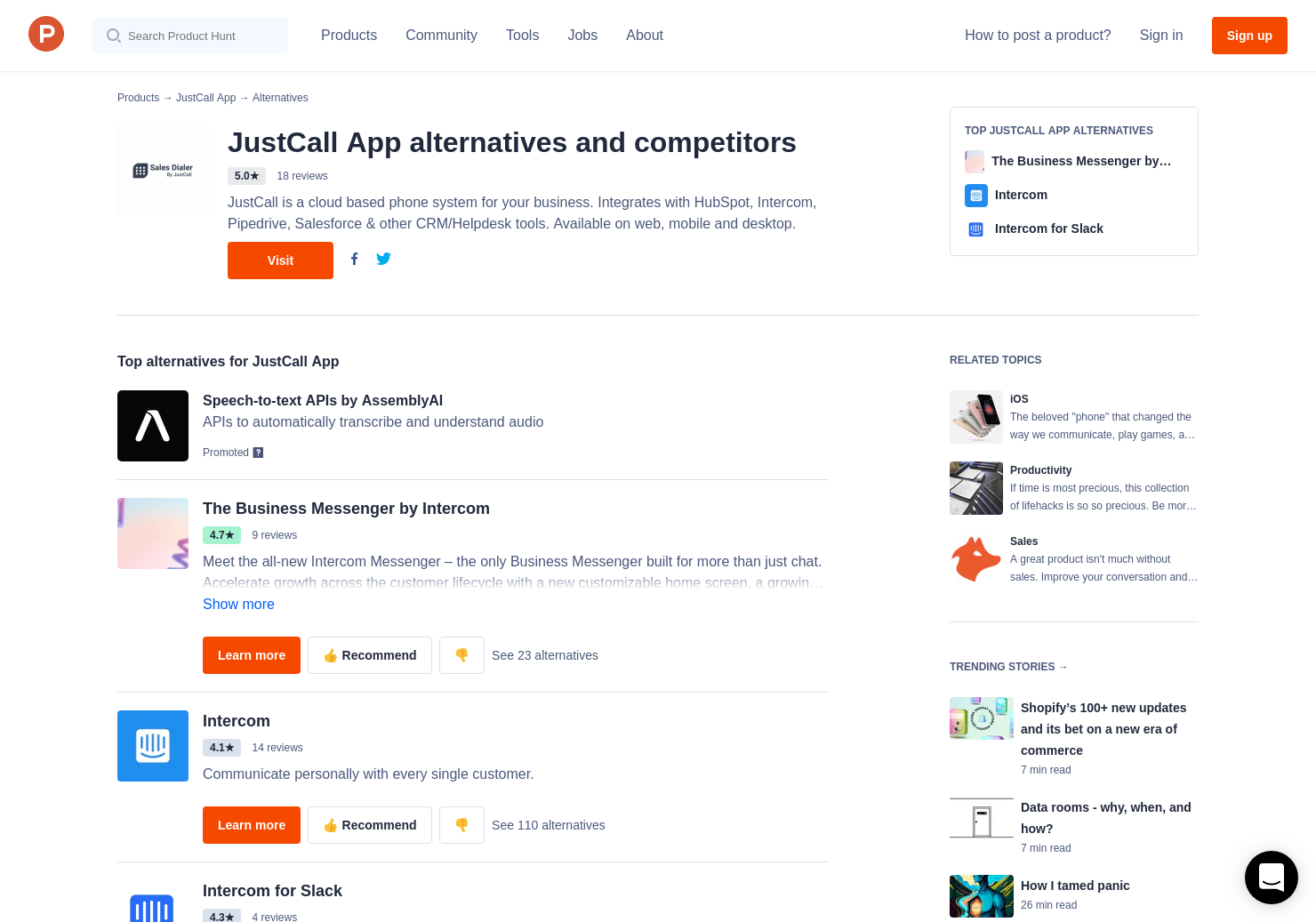 6 Alternatives to JustCall for iPhone   Product Hunt