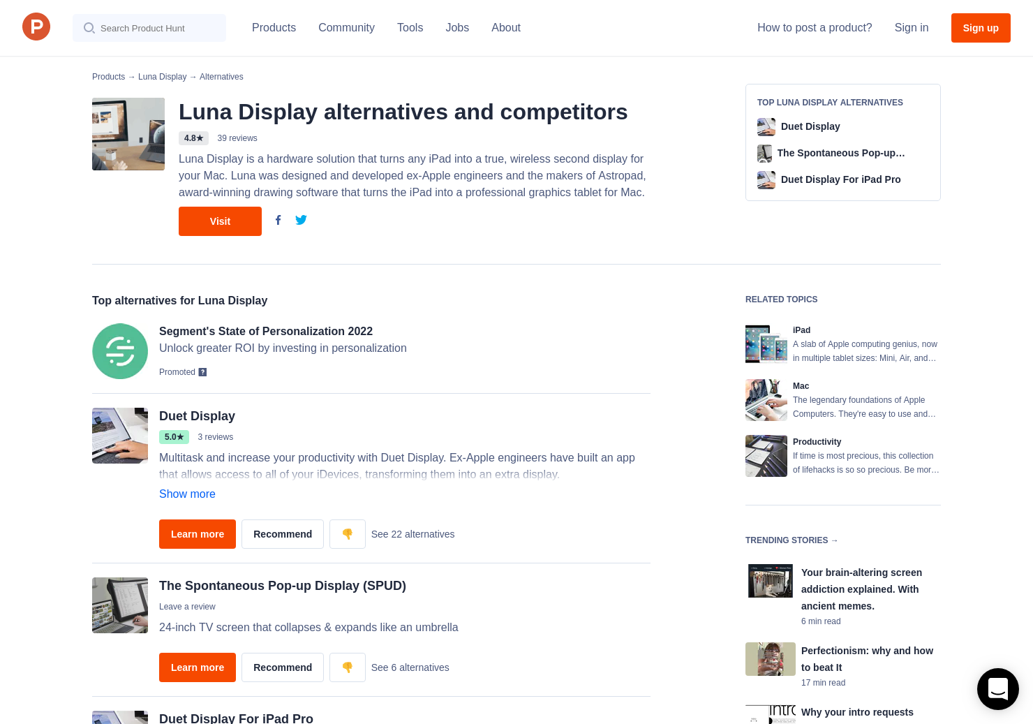 5 Alternatives to Luna Display for iPad, Mac | Product Hunt