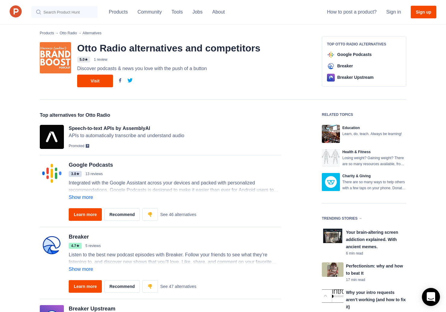 26 Alternatives to Otto Radio for iPhone   Product Hunt