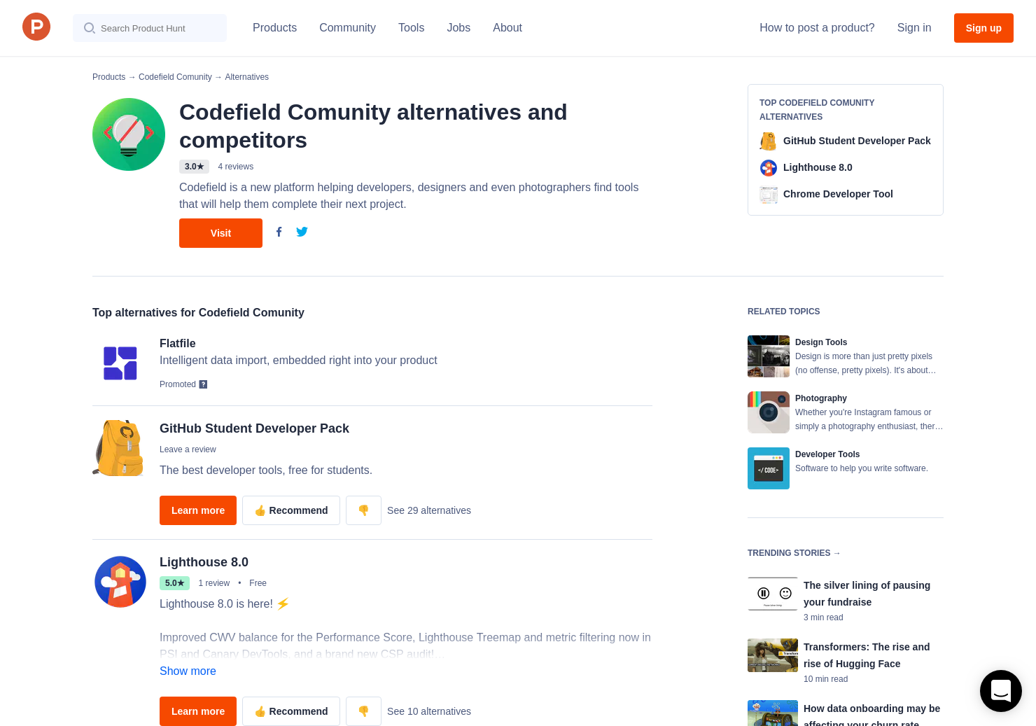 8 Alternatives to Codefield | Product Hunt