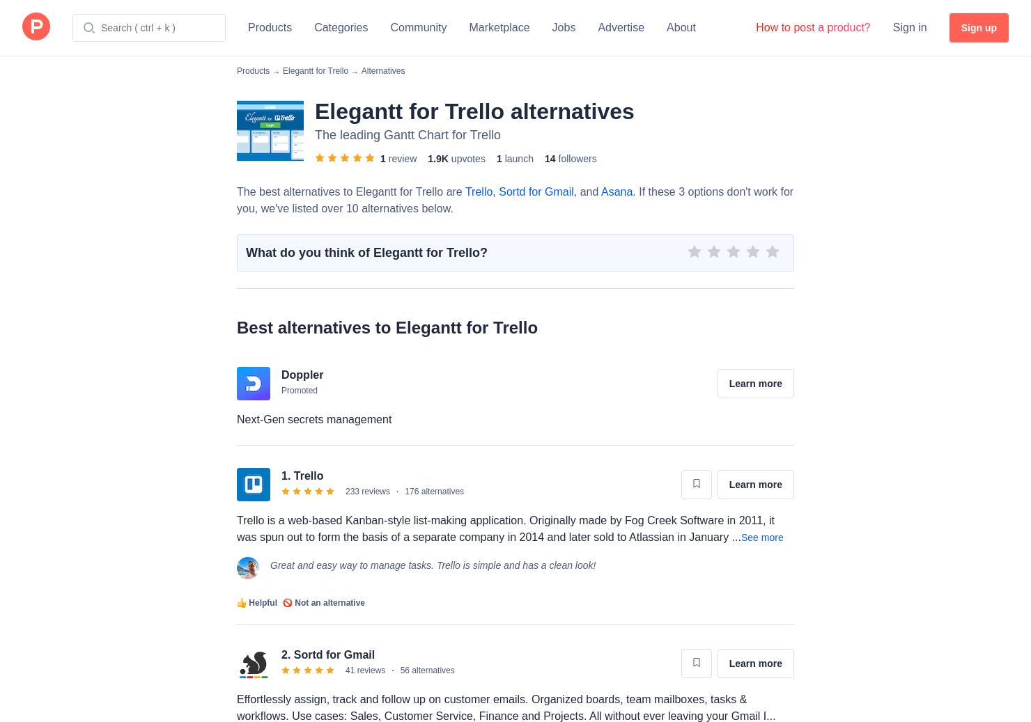 16 alternatives to elegantt for trello product hunt nvjuhfo Image collections