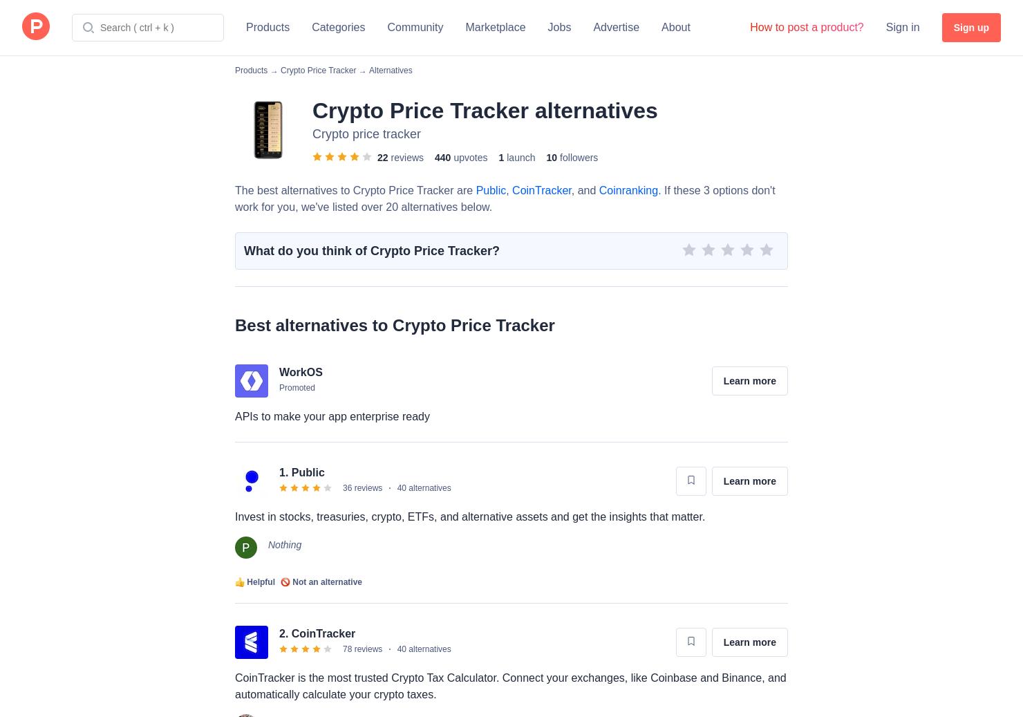 18 Alternatives to Crypto Price Tracker for iPhone, iPad