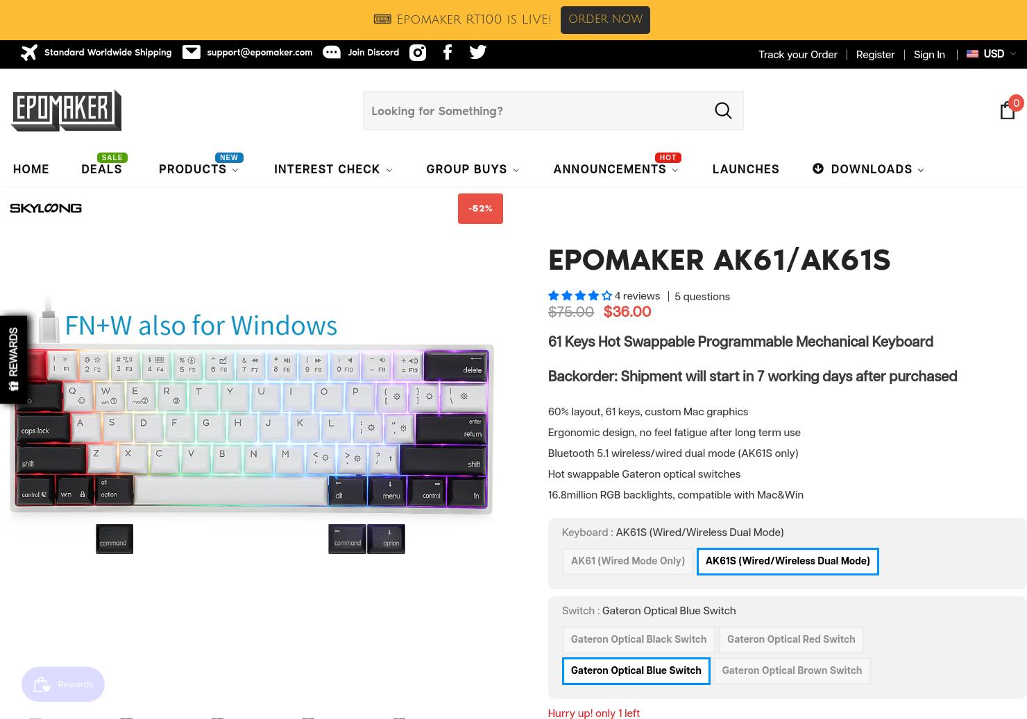 Epomaker AK61