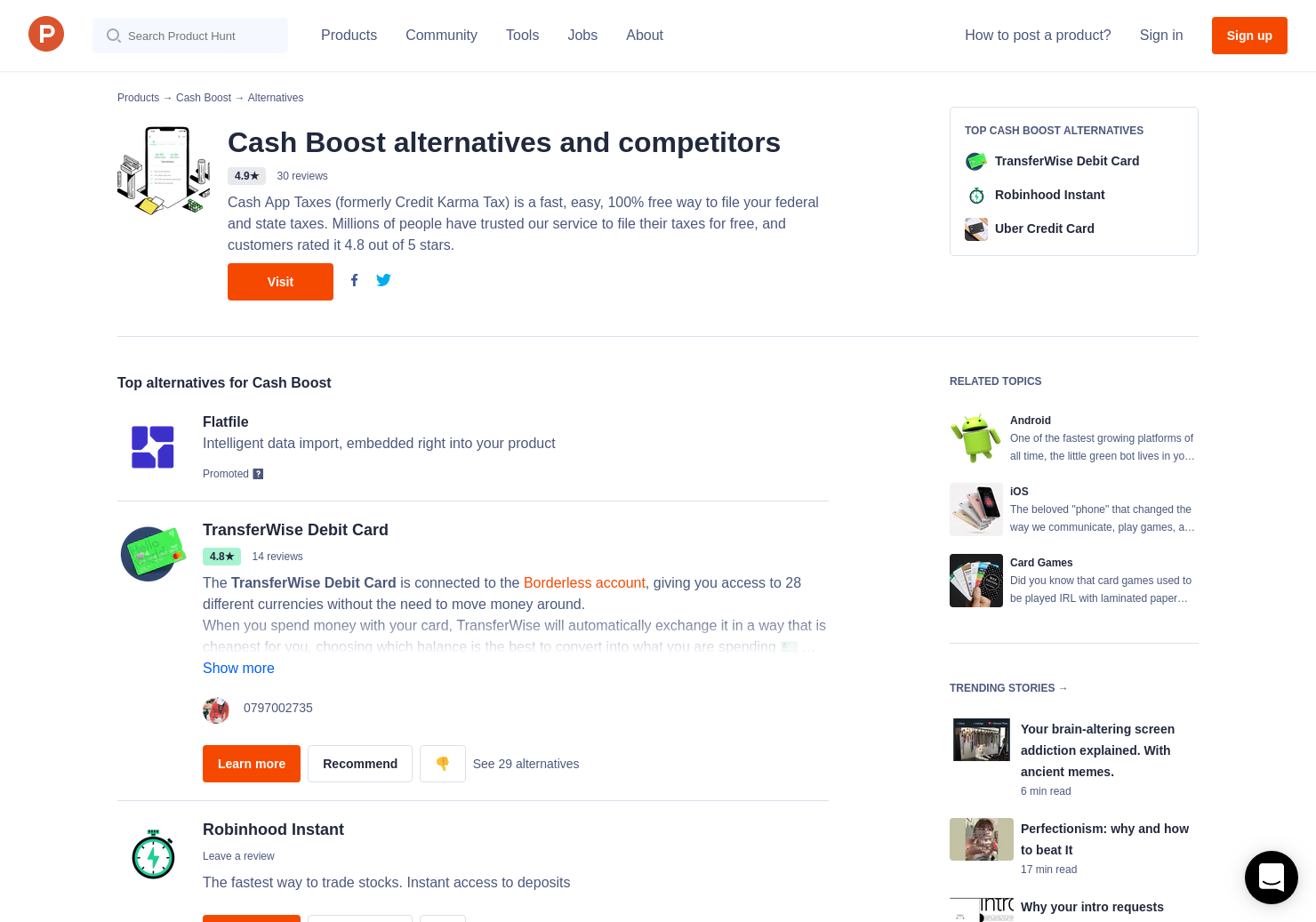 13 Alternatives to Cash Boost for Android, iPhone | Product Hunt