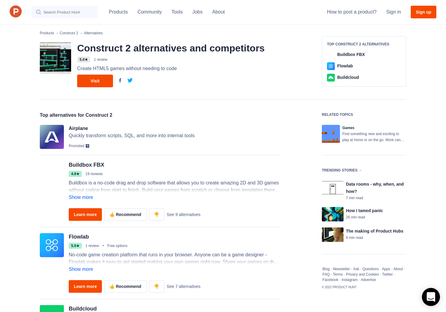 4 Alternatives to Construct 2 | Product Hunt